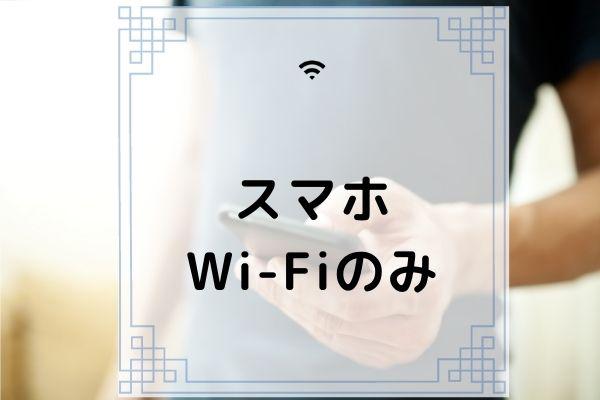 スマホWi-Fiのみ